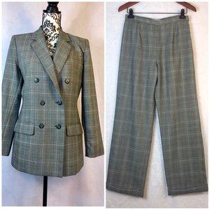 Amanda Smith Plaid Pant Suit